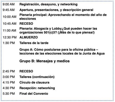 Agenda - El Convenio Anual de Capacitación 2019
