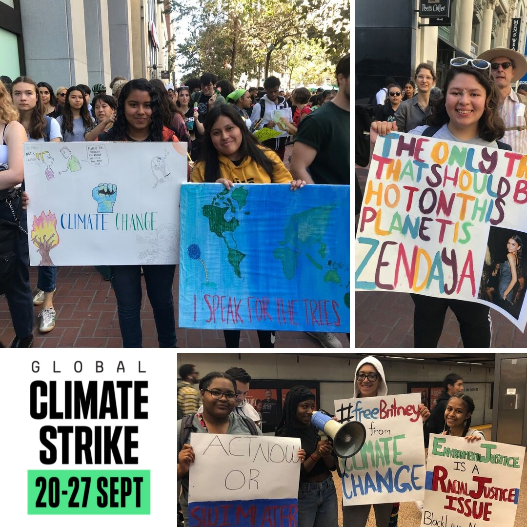 New Voices Fellows at the Global Climate Strike!