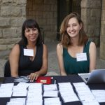 Mary and Aurora ready to check attendees in!