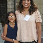 Sheela Shankar, Rose Foundation Development and Communications Director, with daughter and Silent Auction Donor, Sitara, a 9 year old jeweler!
