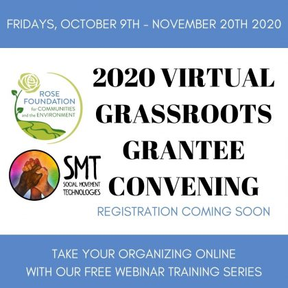 2020 Grassroots Grantee Convening