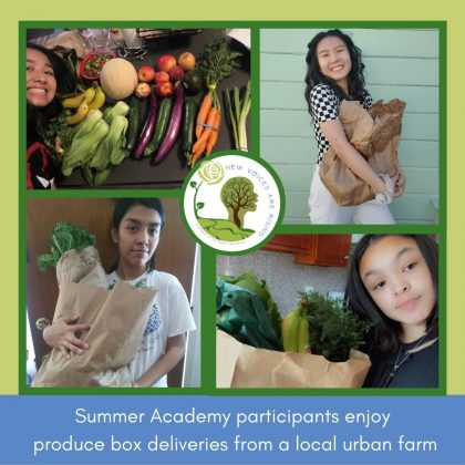 Summer Academy participants enjoy produce box deliveries from a local urban farm