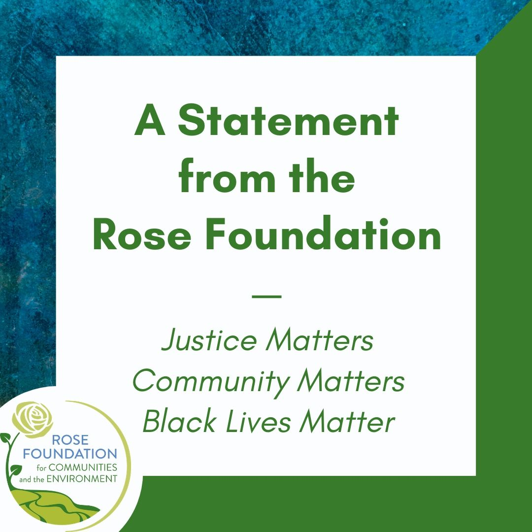 A Statement from the Rose Foundation