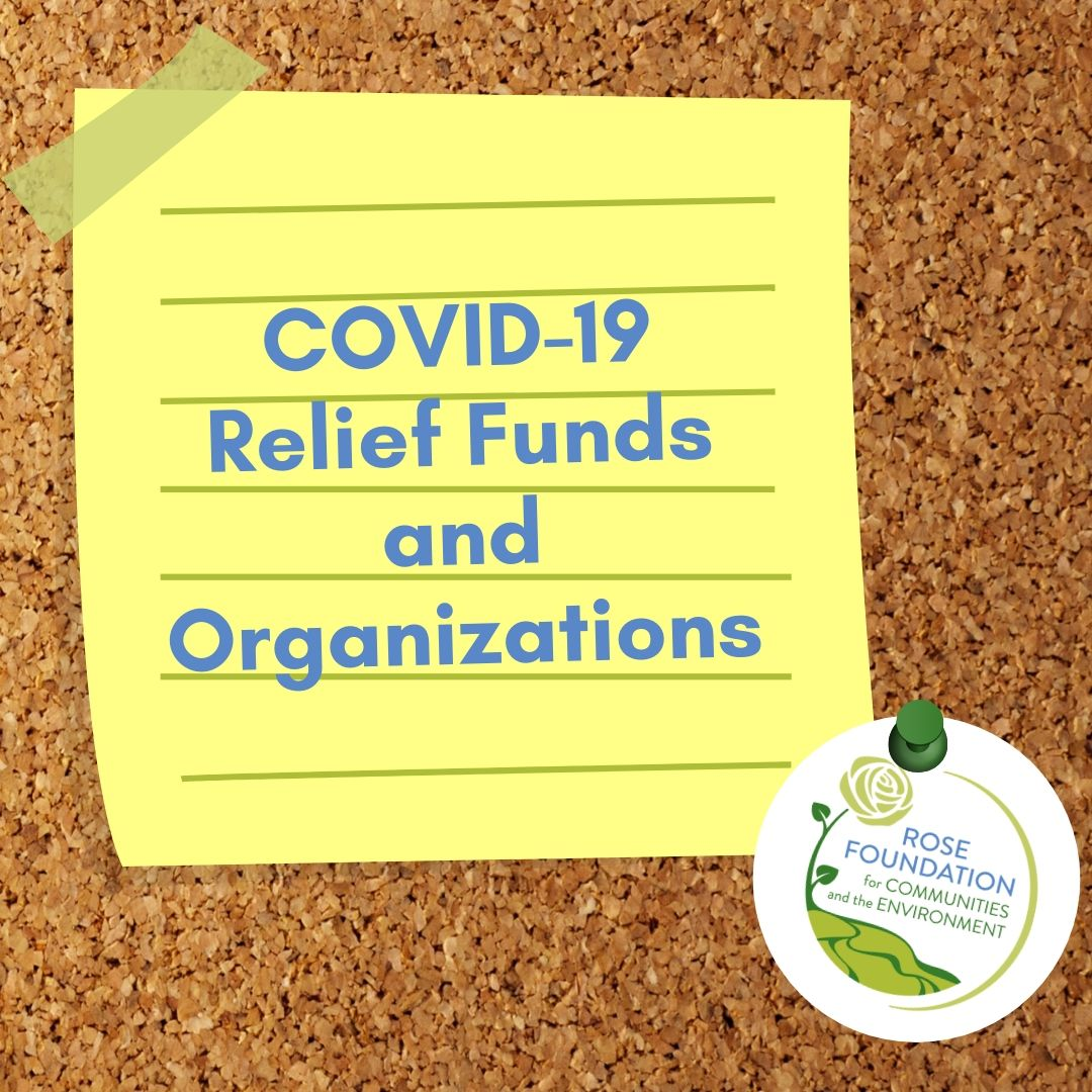 COVID - 19 Relief Funds & Organizations