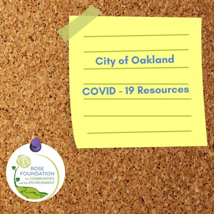 City of Oakland COVID - 19 Resources