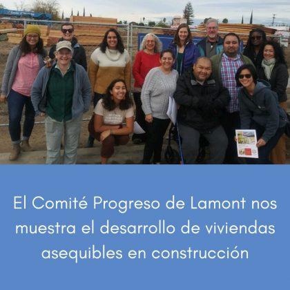 El Comité Progreso de Lamont nos muestra el desarrollo de viviendas asequibles en construcción