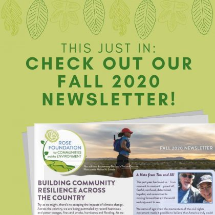 Check out our Fall 2020 Newsletter!