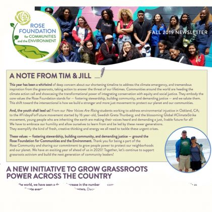 Check out our Fall 2019 Newsletter!