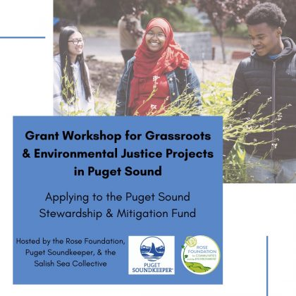 Grant Workshop for Grassroots Environmental Justice in Puget Sound